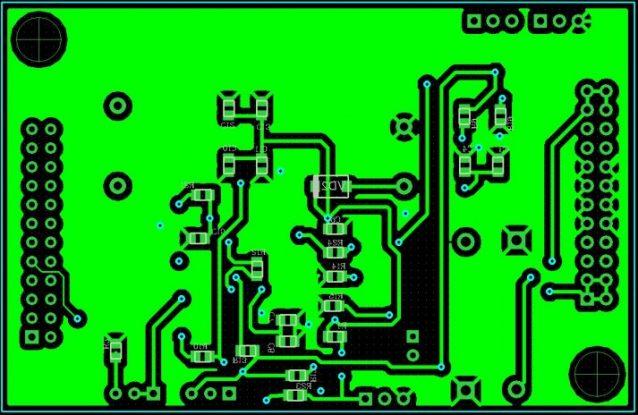 Рисунок 6 – Плата управления силовыми транзисторами на базе UC2825-сторона НИЗ.